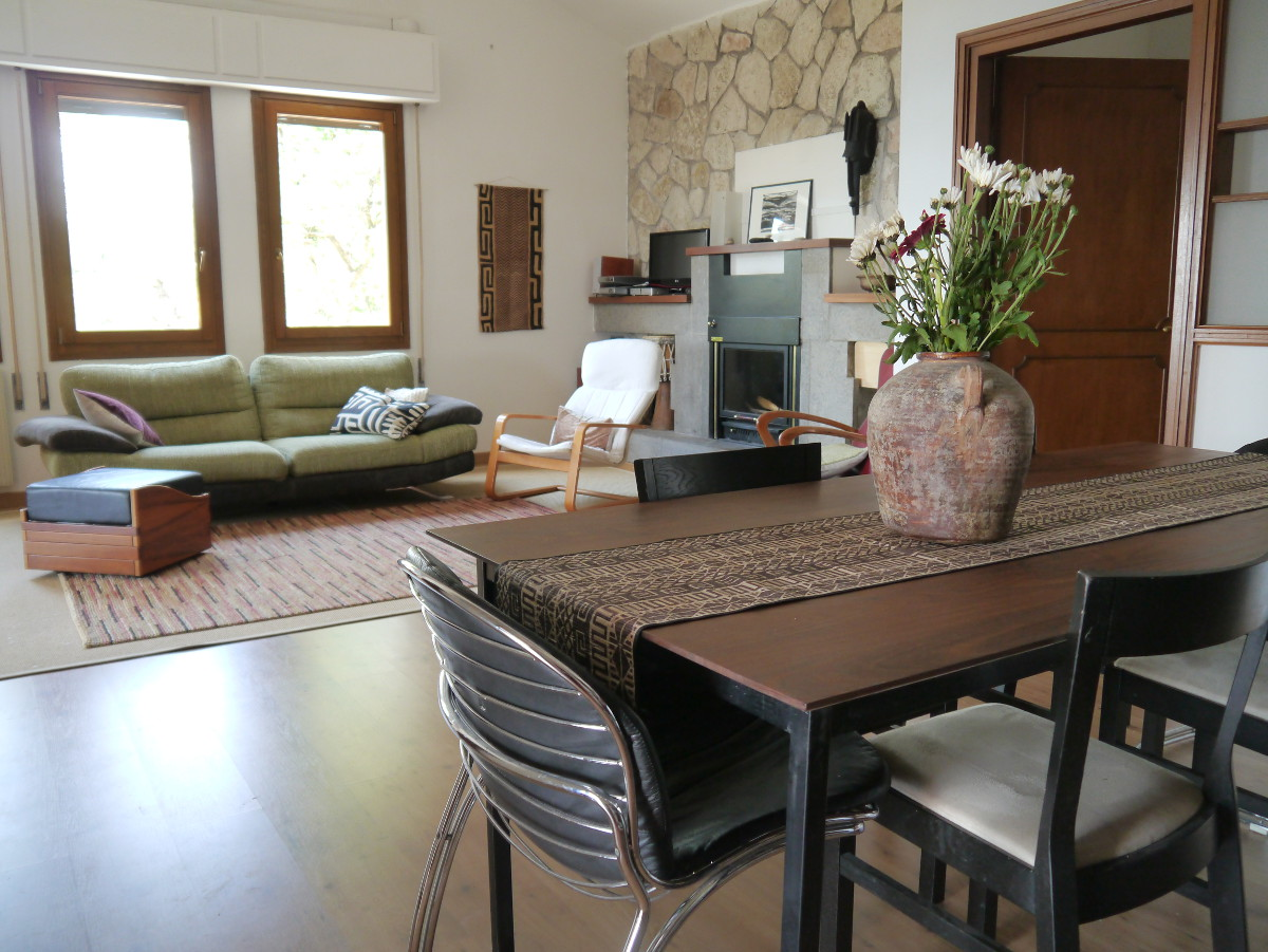 The living / dining room - rental villa near Rome