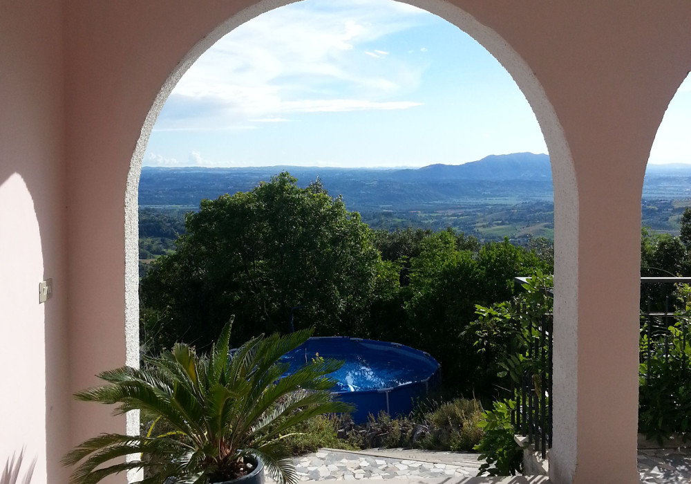 View from the front door - villa rental near Rome