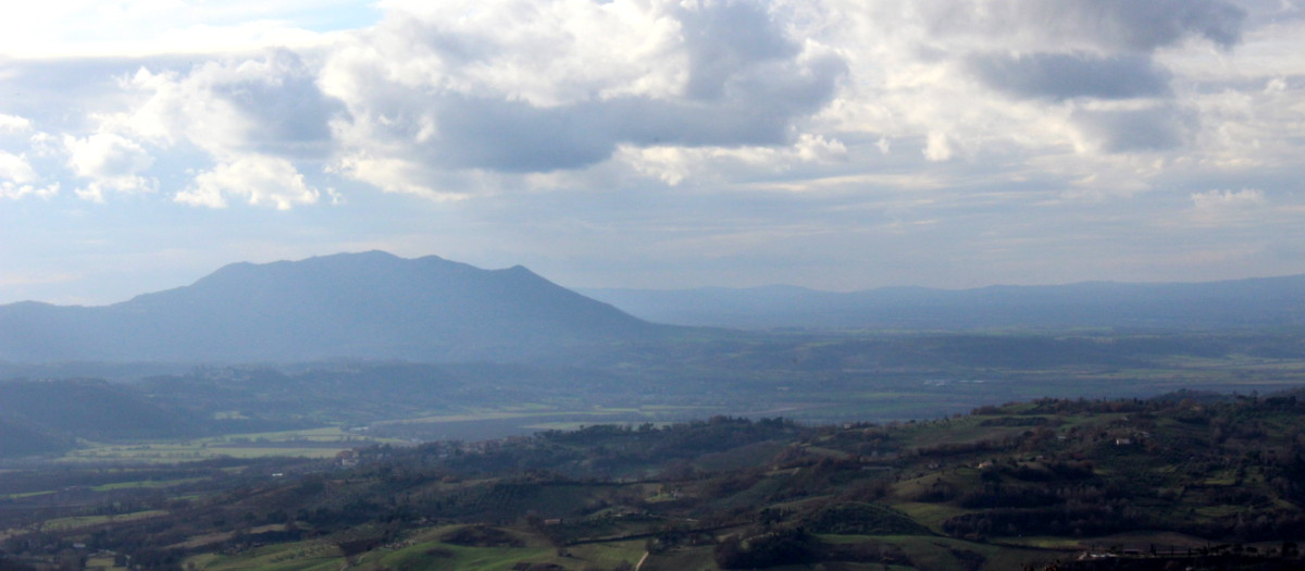 The Sabine Hills near Rome, Italy