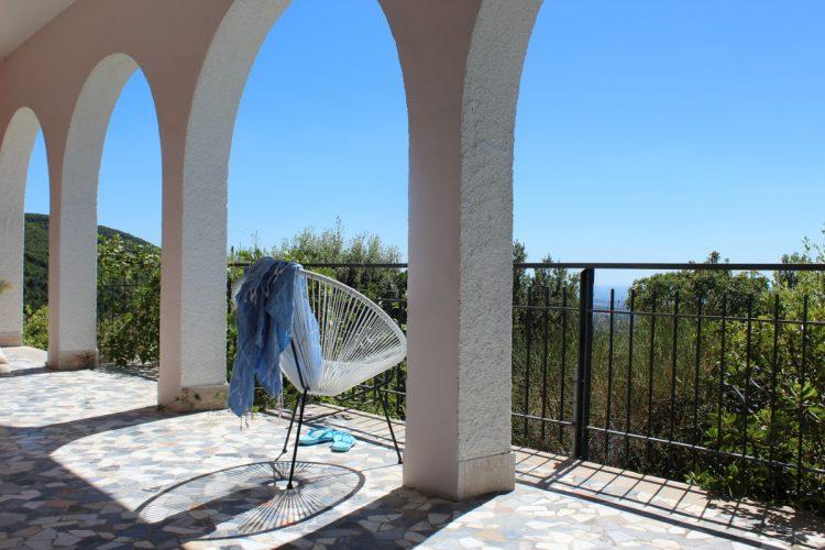 The porch at Villa degli Armeni